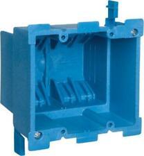 Carlon Bh234R Pvc 1 Gang Outlet Box, Old Work, Blue, 34.0 Cu. In.