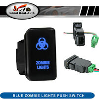 fit Isuzu D-max 09-12 for Holden Colorado 08-12 Blue Zombie Light Push Switch