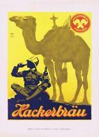 ADVERT FRANZISKANER BEER MUNICH GERMANY MONK DRINK ALCOHOL POSTER PRINT BB1801B