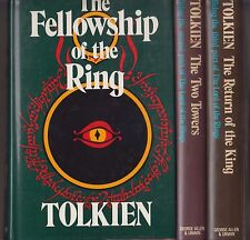 3 Volume Set of VG HC DJ Early UK Edition Lord of the Rings JRR Tolkien Hobbit