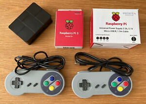 Raspberry Pi 3b Plus, Gaming System, 128Gb Image, With x2 USB Controllers
