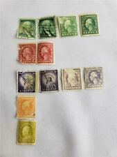 = Lot of 12 Usa Postage Stamps 1 2 3 Cents Washington And Statue of Liberty