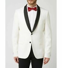 Hugo Boss Men's 'Arti' Extra Slim Fit Beige Wool Shawl-Collar Tuxedo Blazer 38R