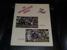1992 ST. SAINT MARYS (CA) COLLEGE FOOTBALL MEDIA GUIDE EX-MINT BOX 23