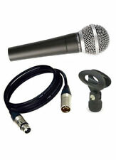 Pulse Pm580 Handheld Vocal Dynamic Metal Microphone Inc Cable & Clip DJ Karaoke