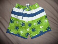 Mini mode baby boys' green striped octopus swimming shorts - 6-9 months - EXC
