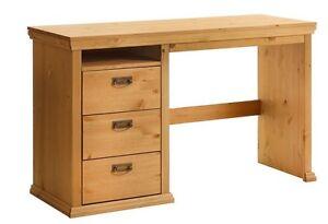 Schreibtisch Kiefernholz gelaugt/geölt Tisch Bürotisch Schrank  NEU
