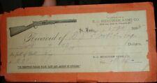old antique 1890 E C Meacham Arms Co Rifle gun bill INVOICE 306 N 4th St. Louis