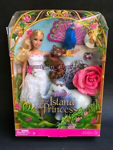 Island Princess Rosella Barbie Doll in White Dress Giftset Extremely Rare NRFB