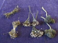 Vintage Millinery Flower Stamen Collection Black Gray 4 Types  H2310