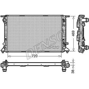 Denso Engine Cooling Radiator - DRM02023 - Single