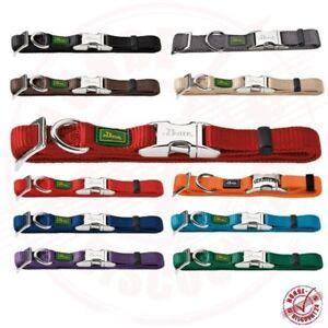 Hunter Vario Basic ALU-STRONG Hundehalsband 13Farben 3Größen Nylon Halsband