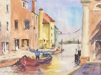 John A. Case - Signed 2007 Watercolour, Burano