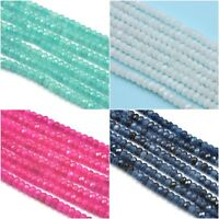 Size 4mm Faceted Rondelle Agate Semi-precious Gemstone Beads Jewellery Making