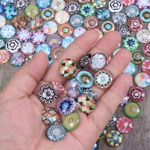 200pcs Glass Crystal Mosaic Tiles  Mixed Colors Cabochons Crafts Jewelry Making