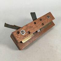 Japanese Plough Hand Plane Vtg Shakuri Kanna Wood Steel 2mm blade Tool K383