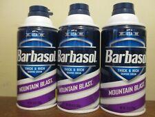 Lot of 3 Barbasol Thick & Rich Shaving Cream mountain blast 10 oz