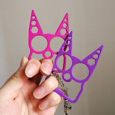 2pcs Cat Head Self-Defense Key-Chain Keyring Emergency Metal Tools Girl Gift