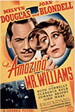 """16mm Feature Film """"THE AMAZING MR WILLIAMS"""" (1939) Comedy Mystery - JOAN BLONDEL"""