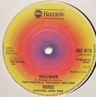 "RUFUS ft CHAKA KHAN - Hollywood - Excellent Condition 7"" Single ABC 4175"