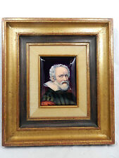 Sehr feines Porzellan Miniatur Portait Gemälde Porzellanmalerei A.Adam Limoges