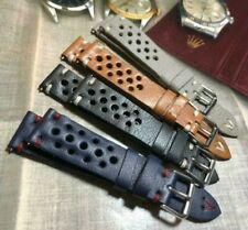 18 19 20 21 22 24mm Vintage Italian Genuine Leather Rally Racing watch strap H/M