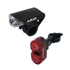 Azur Bike Deluxe 3 Mode Front & Rear Super Bright Bicycle Light Kit Set