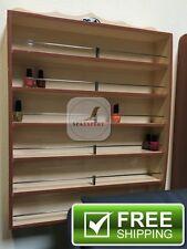 Luxury Wall Mount Nail Polish Wood Rack Manicure Pedicure Spa Massage Up To 180B
