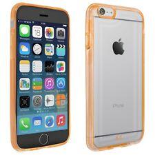 Case für Apple iPhone 6 Hülle Schutz Tasche Handy Cover transparent orange