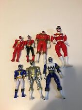 Lot of 7 Vintage 1990's Mighty Morphin Power Rangers Toys Action Figure