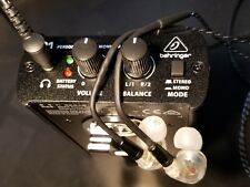 In Ear Monitor Hard-Wired Belt Pack System w/Behringer P1 & FCS110 Earphones