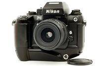 【EXC+++++】 Nikon F4s 35mm SLR + AF Nikkor 35-80mm f4-5.6 D Lens MB-21 From JAPAN