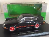 Collectors NEX 1973 Porsche 911 Carrera RS Black - 1:18 Scale Welly Diecast