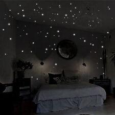 407pcs glow in the dark star wall stickers round dot luminous kids room dec Ru