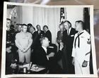 President Johnson White House Photo August 12, 1966  8 X 10 Military Pay Bill