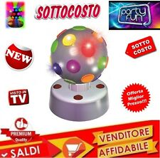 PALLA SFERA LUCI COLORATE DISCO DISCOTECA ROTANTE Stroboscopio Multicolore PARTY