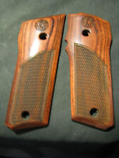 Smith & Wesson Model 59 Fine Rosewood Checkered Pistol Grips W/LOGO NEW! SWEET!