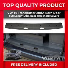 VW T6 TRANSPORTER TWIN BARN DOOR EXTRA WIDE DEEP ABS REAR FULL THRESHOLD COVER