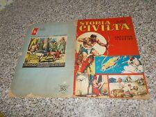 ALBUM figurine STORIA DELLE CIVILTA BAGGIOLI 1964 ORIGINALE COMPLETO MOLTO BUONO