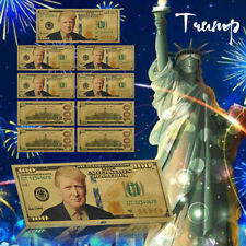 WR US Donald Trump Gold Foil 10pcs Banknote Novelty Dollars Gifts