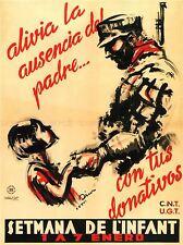 WAR PROPAGANDA SPANISH CIVIL SOLDIER SPAIN ANTI FASCIST RETRO AD POSTER 2828PYLV