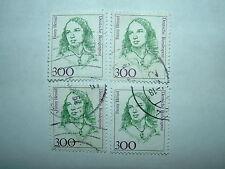 1989 WEST GERMANY 300pf HENSEL FAMOUS GERMAN WOMEN x 4 VFU (sg2167) CV £7.20