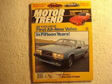 Motor Trend 1982 May Porsche 944 Volvo Camaro vs Mustang Peugeot Fiat Spider