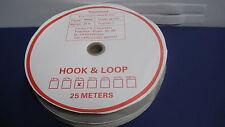 Klettband selbstklebend 2 Rollen a 25m 25mm weiss / Grundpreis je Meter=EUR 1,16