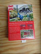 H0 1:87 BUSCH 1176 feuerlöschtafeln. accessoires kit. emballage d'origine