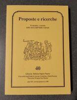 Proposte e ricerche economia e società nella storia dell'Italia centrala n 40