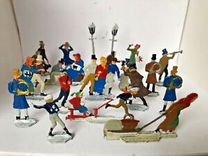 "Vintage Heinrichsen German Lead Flats Winter Scene w/Box ""20 Piece Lot"""
