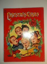 CHRISTMAS CAROLS 1952 WHITMAN PUB. VINTAGE ILLUSTRATED BOOK OF SONGS
