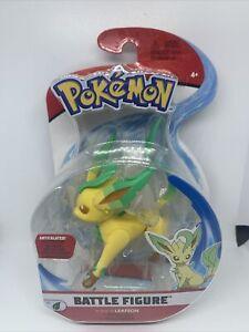 "Pokemon Battle Figure Leafeon Articulated Battle 3"" Jazzwares 2021 NEW Pokémon"