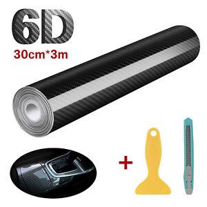 6D Carbon Folie selbstklebend Car Wrapping Folie Autosticker Schwarz 30 x 300cm